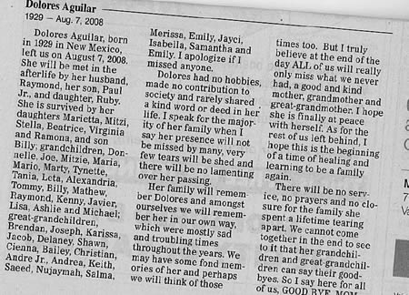 Best or Worst Obit Ever?