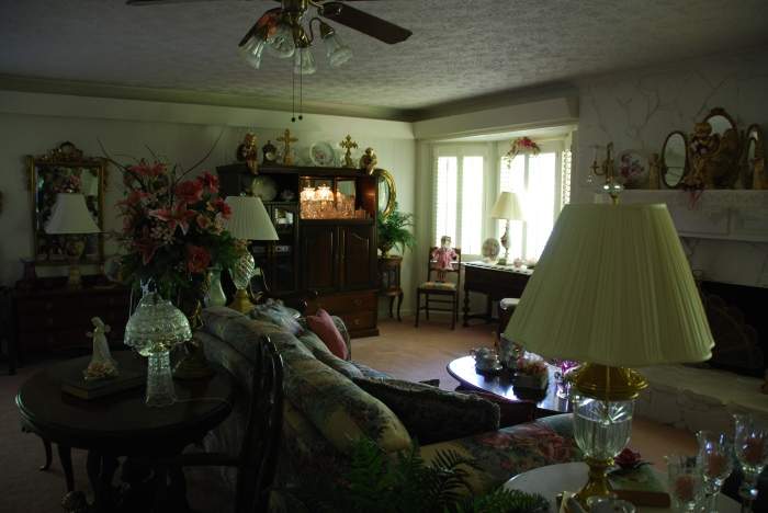Myrna's living room. This was not a showpiece; it was the main family room, used every day.