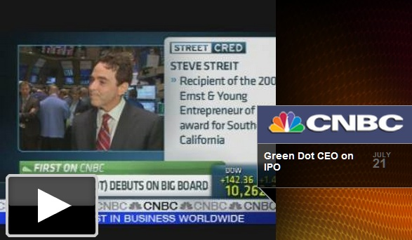 Steve Streit, chief executive of prepaid access card firm Green Dot, told CNBC last year how the cards work.